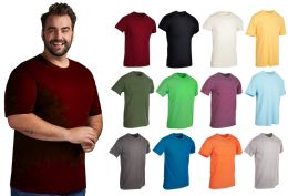 Mens Cotton Short Sleeve T-Shirts, Bulk Crew Tees for Guys, Mixed Bright Colors Bulk Pack Size 2XL