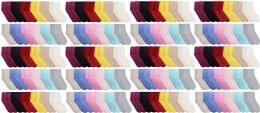 Yacht & Smith Womens Soft Fuzzy Gripper Crew Socks, Assorted Solid Size 9-11