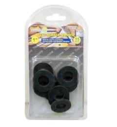 15 PIECE 1 INCH FLAT RUBBER WASHER