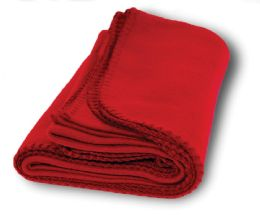 Yacht & Smith 60x90 Fleece Blanket, Soft Warm Compact Travel Blanket, RED