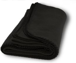 Yacht & Smith 60x90 Fleece Blanket, Soft Warm Compact Travel Blanket, BLACK