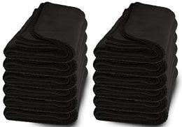 Yacht & Smith 50x60 Fleece Blanket, Soft Warm Compact Travel Blanket, Black