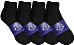 Yacht & Smith Mens Lightweight Cotton Sport Black Ankle Socks, Sock Size 10-13
