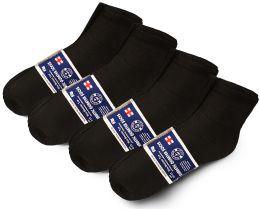 Yacht & Smith Mens Cotton Diabetic NoN-Binding Ankle Socks Size 10-13 Black
