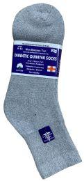 Yacht & Smith Women's Diabetic Cotton Ankle Socks Soft NoN-Binding Comfort Socks Size 9-11 Gray Bulk Pack