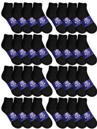 Yacht & Smith Womens Lightweight Cotton Sport Black Quarter Ankle Socks, Sock Size 9-11