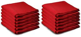 Yacht & Smith 50x60 Fleece Blanket, Soft Warm Compact Travel Blanket, RED