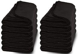 Yacht & Smith 60x90 Fleece Blanket, Soft Warm Compact Travel Blanket, Black