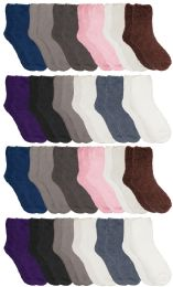Yacht & Smith Women's Solid Colored Fuzzy Socks Assorted Neutral Colors, Size 9-11