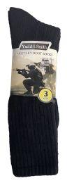 Yacht & Smith Men's Army Socks, Military Grade Socks Size 10-13 Solid Black