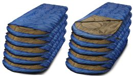 Yacht & Smith Temperature Rated 72x30 Sleeping Bag Solid Blue