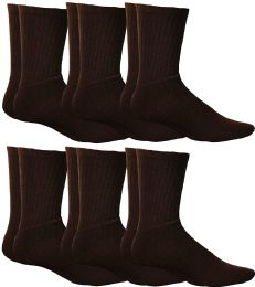 Yacht & Smith Women's Sports Crew Socks, Size 9-11, Brown