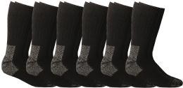 Yacht & Smith Men's Heavy Duty Steel Toe Work Socks, Black, Sock Size 10-13
