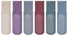 Yacht & Smith Mens Diabetic Rubber Gripper Bottom Sock (Assorted Pastel Size 10-13)
