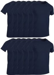 Mens Navy Blue Cotton Crew Neck T Shirt Size Small