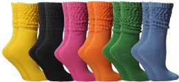 Yacht & Smith Slouch Socks For Women, Assorted Bold Bright Sock Size 9-11