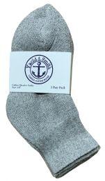 Yacht & Smith Kids Cotton Quarter Ankle Socks In Gray Size 4-6 Bulk Pack