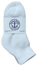 Yacht & Smith Kids Cotton Quarter Ankle Socks In White Size 4-6 Bulk Pack