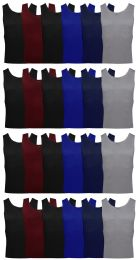 Yacht & Smith Mens Ribbed 100% Cotton Tank Top, Assorted Colors, Size Medium
