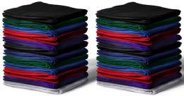 Gildan 50x60 Warm Fleece Blanket, Soft Warm Compact Travel Blanket Assorted Colors