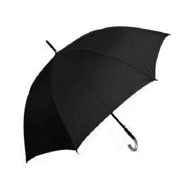 55 cm Black Umbrella BULK BUY 48 pack