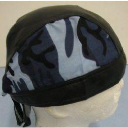 LeatheR-Like Skull CaP-Blue Camo 72 pack