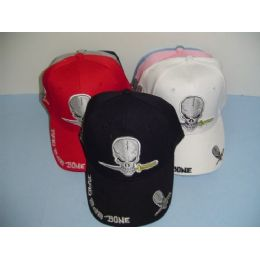 Bad 2 Da Bone Hat With Skull 48 pack