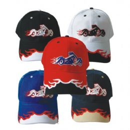 Motorcycle Baseball Cap Assorted Colors 144 pack