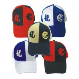 Dragon Baseball Cap Assorted Colors 144 pack