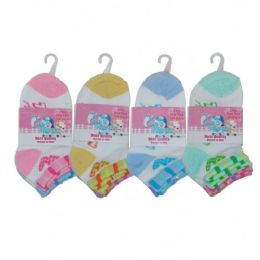 3 Pair Girls Heart Shape 2 Tone Size 4-6 Assorted Colors 48 pack