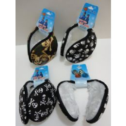 Earmuffs With Fur InsidE--Skulls 144 pack