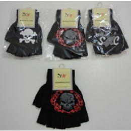 Kids Fingerless GloveS--Skull 144 pack