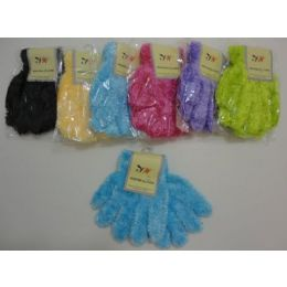 Kids Solid Color Chenille Gloves 144 pack