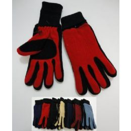 Ladies Cuffed Gloves With Suede Palm (two Tone) 144 pack