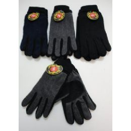 Men's Cuffed Gloves With Suede Palm (two Tone) 72 pack