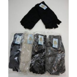 Men's Thermal Insulate Fingerless GloveS--Solid Color 144 pack