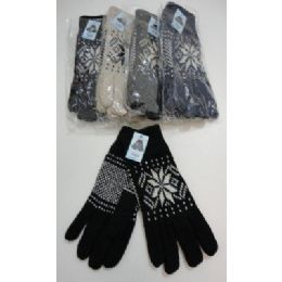 Men's Thermal Insulate GloveS--Snowflakes 144 pack