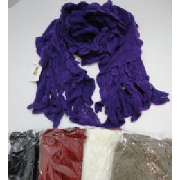 Ruffle Knit Scarf 72 pack