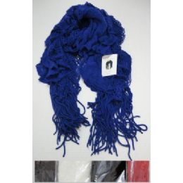 Ruffle Scarf With Fringe
