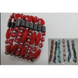 36 INCH Magnetic Necklace-Large Rock Beads Bracelet 180 pack