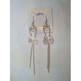 EarringS-Dangle With Bow Tie Charm 72 pack