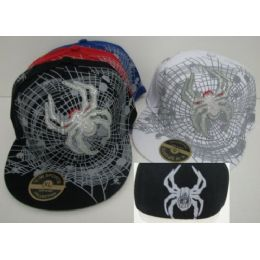 Fitted Spider & Web Hat 72 pack