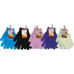 Ladies Chenille Glove Asst Colors 48 pack
