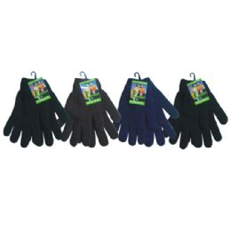 Mens Knit Glove Heavy Duty Assorted Dark Colors