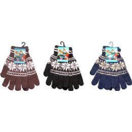 Snow Flake Print Magic Glove 144 pack