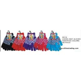 Ladies Knit Gloves Assorted Colors