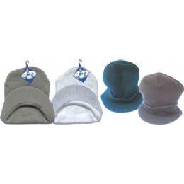 Black Winter Hat With Visor 144 pack