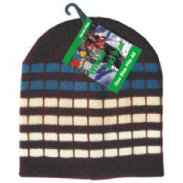 Winter Dot Stripe Hat 144 pack
