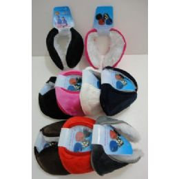 Earmuffs with Fur Inside--Solid Color 144 pack