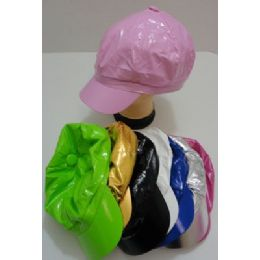 Glossy LeatheR-Like Newsboy Hat 120 pack
